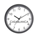 CASABLANCA Modern Newsroom Wall Clock