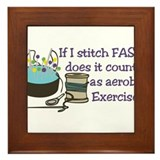 If I Stitch Fast... Framed Tile
