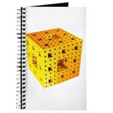 Yellow Menger Sponge Fractal Journal