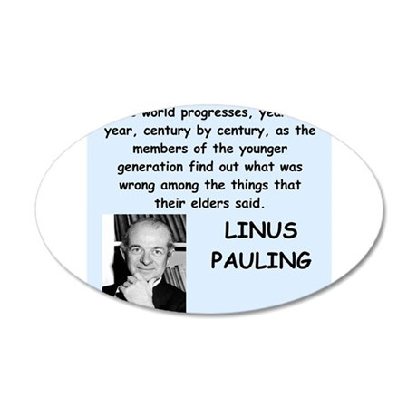 linus pauling Wall Decal