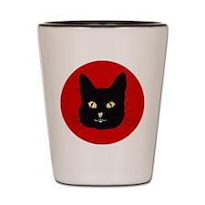 Black Cat Face Shot Glass