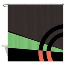 Green and Peach Majestic Shower Curtain
