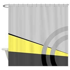 Gray and Yellow Majestic Shower Curtain