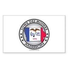 Iowa Des Moines LDS Mission State Flag Cutout Stic