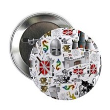 "Medieval Mash-up 2.25"" Button (10 pack)"