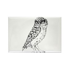 Wise Owl Rectangle Magnet