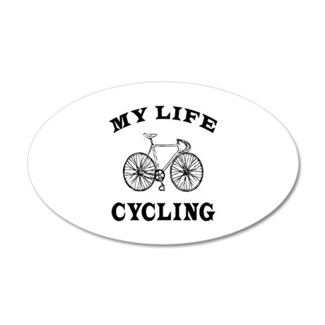 My Life Cycling 35x21 Oval Wall Decal