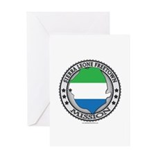 Sierra Leone Freetown LDS Mission Flag Cutout Map