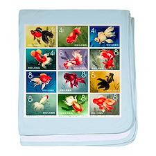 Vintage 1960 China Goldfish Set Postage Stamps bab