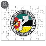Mozambique Maputo LDS Mission Flag Cutout Map 2 Pu