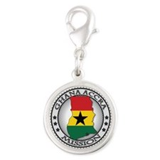 Ghana Accra LDS Mission Flag Cutout Map Silver Rou