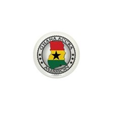 Ghana Accra LDS Mission Flag Cutout Map Mini Butto