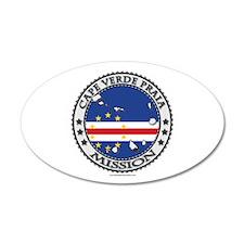 Cape Verde Praia LDS Mission Flag Cutout Map Wall