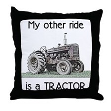 Ride a Tractor Throw Pillow