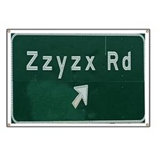 Zzyzx Road Banner