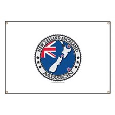 New Zealand Auckland LDS Mission Flag Cutout Map B