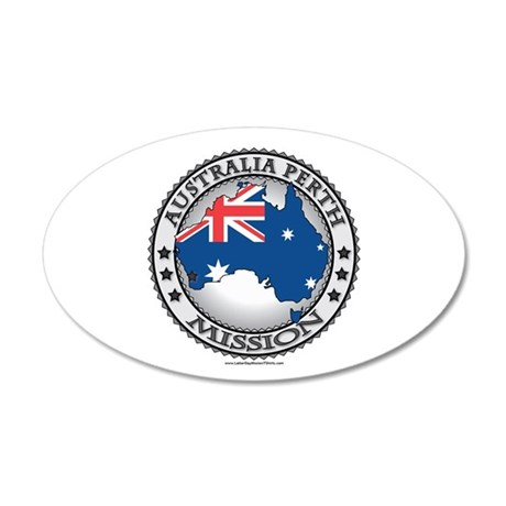 Australia Perth LDS Mission Flag Cutout Map 1 Wall