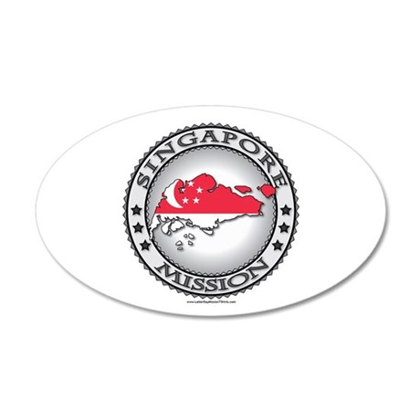 Singapore LDS Mission Flag Cutout Map 1 Wall Decal
