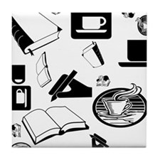 Books Coffee Tile Coaster