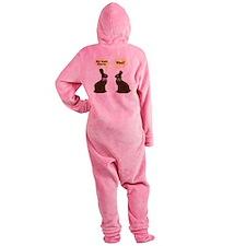 My butt hurts Chocolate bunnies Footed Pajamas