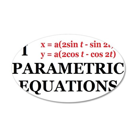 Parametric Equations Wall Decal