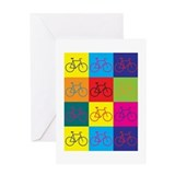 Cute Bicycling Greeting Card