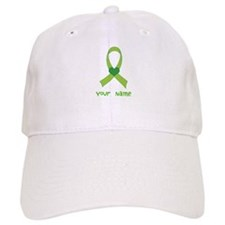 Personalized Green Heart Ribbon Baseball Cap