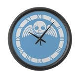 winged-skull_blue_cl.png Large Wall Clock