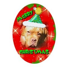 Dogue De Bordeaux, Oval Ornament