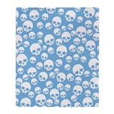 random-skull-pattern-bu_sb.png Throw Blanket