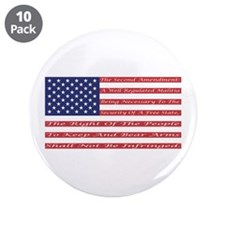 "2nd Amendment Flag 3.5"" Button (10 pack)"