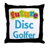 Future Disc Golfer Throw Pillow