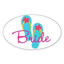Flip Flop Bride Decal