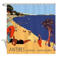 Vintage French Antibes Shower Curtain