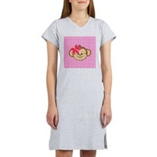Girl Monkey Love Women's Nightshirt