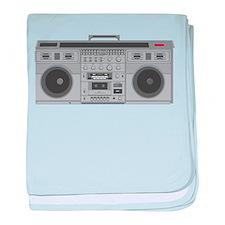 Boom Box baby blanket