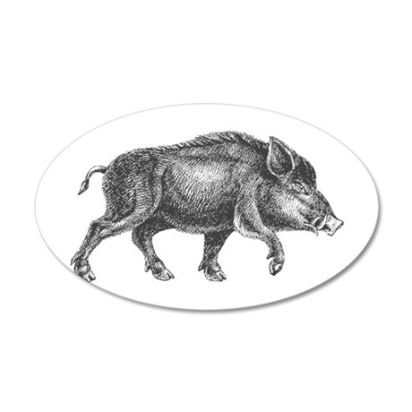 Wild Boar Wall Decal
