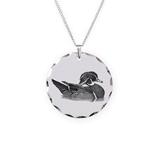 Wood Duck Circle Charm Necklace