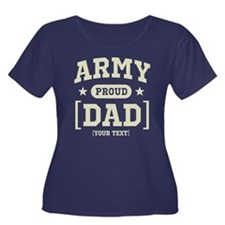 Army Mom/Dad/Sis/Bro Women's Plus Size Scoop Neck