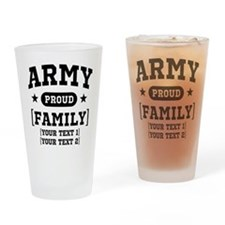 Army Sister/Brother/Cousin Drinking Glass