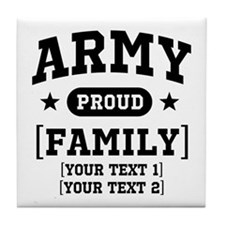 Army Sister/Brother/Cousin Tile Coaster