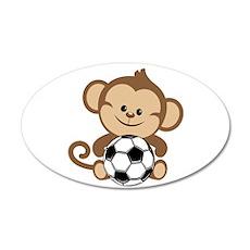 Soccer Monkey Wall Decal