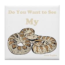 My Snake Tile Coaster