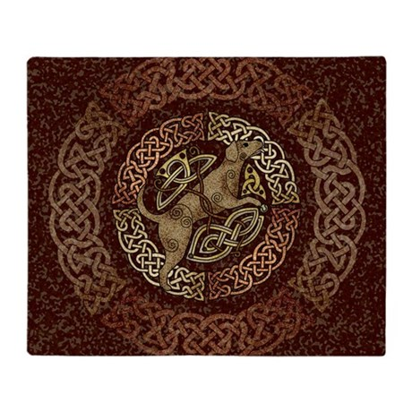 Celtic Dog Throw Blanket