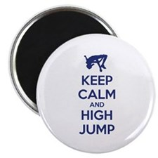 Keep calm and high jump Magnet