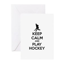 Keep calm and play hockey Greeting Cards (Pk of 10