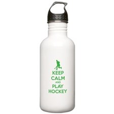 Keep calm and play hockey Water Bottle