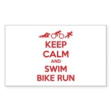 Keep calm and swim bike run Decal