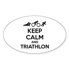 Keep calm and triathlon Decal
