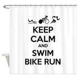 Keep calm and triathlon Shower Curtain
